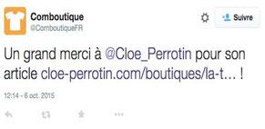 Retour partenaire via le réseau social Twitter via Cloé Perrotin de l'entreprise Illustr'&Vous