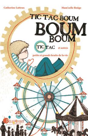 Couverture de l'album jeunesse Boum Boum et autres petits et grands bruits de la vie paru aux Éditions Pour Penser  sur le BLOG : la Bulle Ludique Originale Gratuite