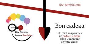 Visuel du bon cadeau de la boutique Illustr'&Vous de Cloé Perrotin