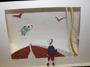 Image d'aperçu du tutoriel d'une carte en relief façon théâtre