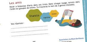 Visuels vectoriels réalisés par Cloé Perrotin pour les jeux illustrés pour l'association La Muse des gones en 2016