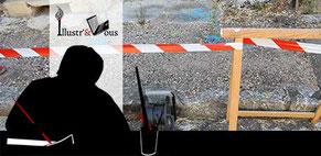 Visuel photomontage représentant les travaux de l'entreprise Illustr'&Vous
