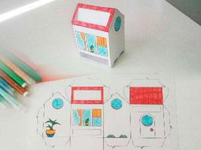 Image d'aperçu du tutoriel du papercraft d'une box façon Tiny House