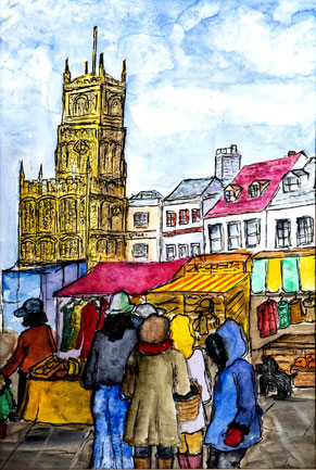 By Sheila Warren 'Cirencester Xmas Market'