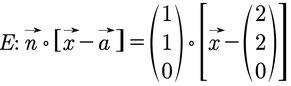 Beispiel einer Ebenengleichung