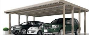 Aluminium-Dreiercarport Resistport - Direkt zum Konfigurator mit Preis
