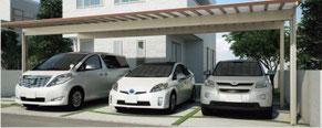 Aluminium-Dreiercarport SHG - Direkt zum Konfigurator mit Preis