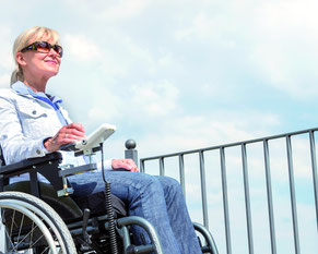 Joystick am Rollstuhl