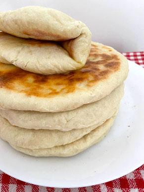 türkisches Brot mit Käse (Bazlama Rezept)