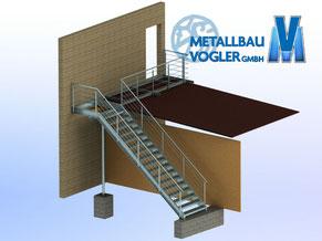 Treppenanlage von Metallbau-Vogler in Pfullendorf