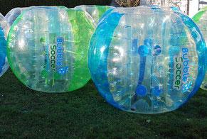 Bubble Soccer mieten Vereinsfest Saisonabschlussfeier Bumper Ball Fußball Football spielen Torwand Verleih
