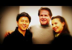 タッド・ジェームス博士夫妻と(NLPトレーナーズ・トレーニングにて:2009)