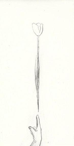 Blatt 3 Renate Hansen, Kaltnadelradierung