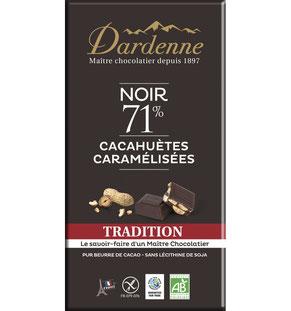 Chocolat Dardenne cachuètes caramélisées