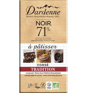 chocolat Dardenne à pâtisser à dessert