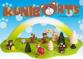 Kunibärts, Kunbaert, Bären, Holz, Teddy, Bär, Teddybär, Erzgebirge