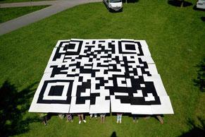 Riesen QR-Code für Erkrath, 2013