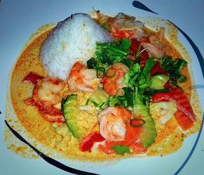 Ein rotes Curry! Klassiker der thailändischen Küche  (Foto Jörg Schwarz)