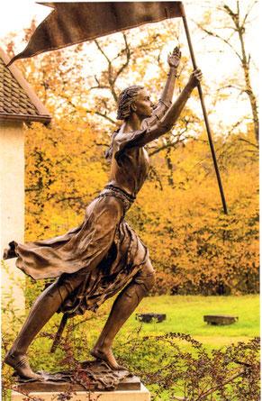 Statue de Ste Jeanne d'Arc par Boris Lejeune