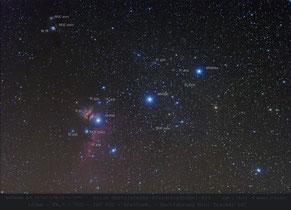 Oriongürtel beschriftet