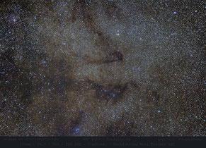 NGC 6823 und Dunkelwolken