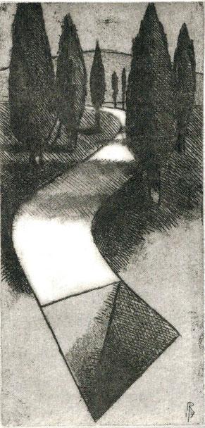 pagina con opera originale di Nando Crippa - 135x100 mm