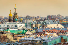 Roofs of St Petersburg Russia private city tours