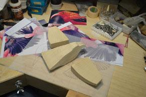 図面を基にして飛翔形のキットを作る