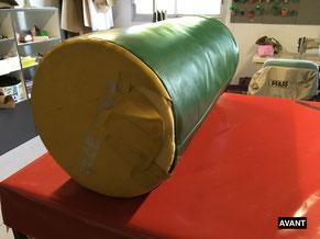 réfection couture cylindre de gymnastique