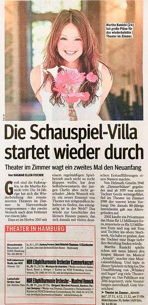 Jazz-Konzerte im Theater im Zimmer - Presseartikel Hamburger Morgenpost