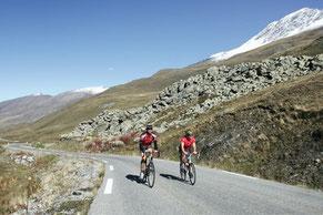 Clyclistes en altitude