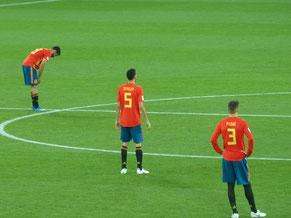 WM Spiel in Kaliningrad:  Spanien vs. Marocco