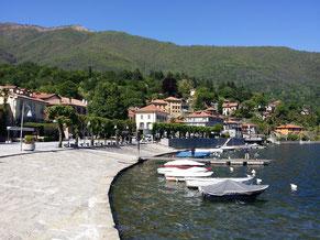 der Hafen von Mergozzo