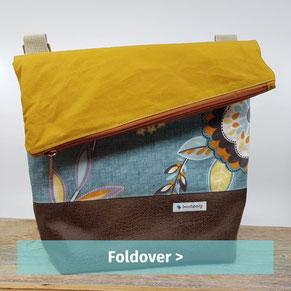 handgemachte Tasche aus beschichteten Stoffen