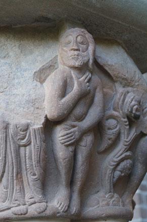 サン・ファン・デ・ラ・ペーニャ修道院 柱頭 アダム
