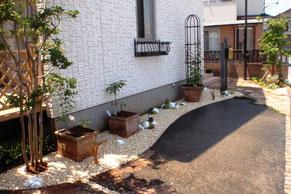 お庭のイメージチェンジ