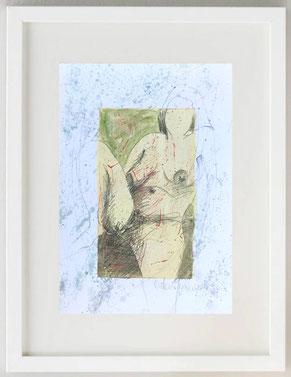 """""""Venere - Dea Madre 2"""", 2020, Acquerello e pastelli su carta, 20 x 30"""