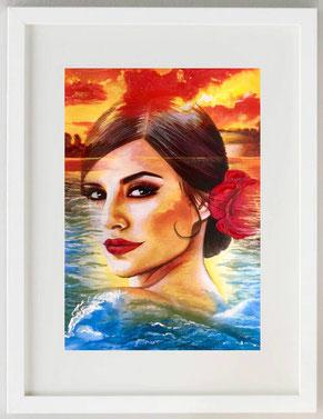 """""""IL FIORE DEL MONDO 3"""", 2020, Pastelli, cera e acrilico, 20 x 30"""