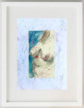 """""""Venere - Dea Madre 3"""", 2020, Acquerello e pastelli su carta, 20 x 30"""