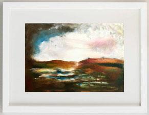 LATTIGINOSA D'ALBA, 2020, olio, pigmenti, grafite su carta, 30 x 20 cm