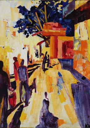 """Kovalenko Nadejda, """"Heat"""", Öl auf Leinwand,  70 x 50 cm, 2012, gerahmt, 1.500 €"""