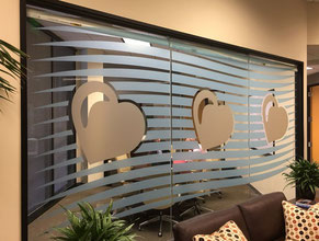 PCA3 Privacy Glass Office Sign