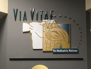 Via Vitae 3D Lobby Wall Office Sign