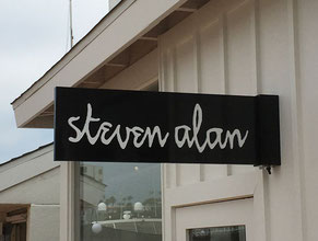 Steven Alan Projecting Sign