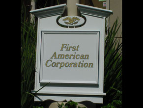 First American Corp Wood Sign