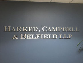 Harker 3D Lobby Wall Office Sign