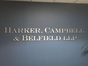 Harker 3D Lobby Wall Office Sign