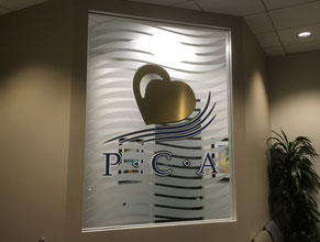 PCA1 Privacy Glass Office Sign