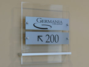 Germania Directional Sign