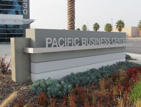 Pacific Business Center Monument Sign